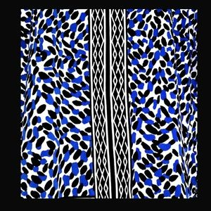 Dana Buchman Tops - Dana Buchman Tunic Blue Black White Size L